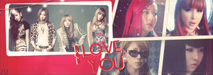 Capa 2ne1 I-Love-You by JoaoM11