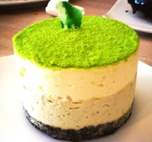 green tea cheesecake by veruca08