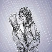 In the Rain - Doodle by bubblemoon66