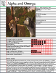 Alpha and Omega Notepage by Duckyworth