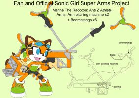 SonicSuperArmsProject Marine The Raccoon(DesignTes by skyshek