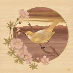 Bird and Bee - Marquetry by amazoncanvas