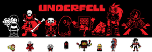 Underfell Sprites by DumbTurquoise