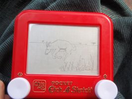 an impala or something etch by inner-etch