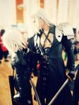 Kadaj and Sephiroth Yaoi cosplay by megamihinata