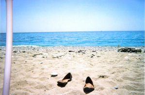 sea, shoes and sand by stuk-in-reality