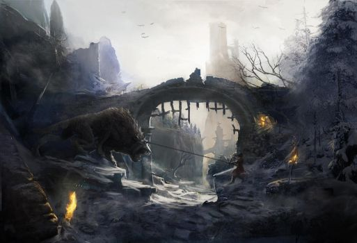 Warg Battle by PapayouFR