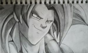 Gogeta's Confidence by Lukitzo