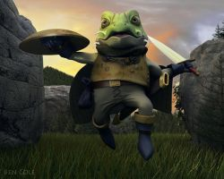 Chrono Trigger's Frog by 3dmodeling