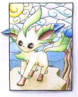 Leafeon Stained Glass by Togechu