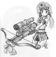 Crossbow expert, sketch by phoenix-san