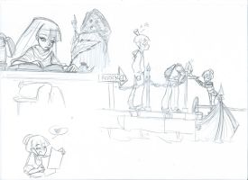 MistyX-reborn - One hell of a job doodles 2 by Alizarinna