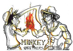 Monkey D. brothers by friend-of-totoro