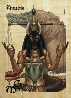 Anubis Base Card Art - Mel Uran by Pernastudios