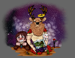 Deerlord and Minecraft by Kinla