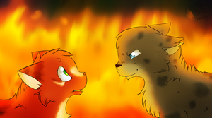 Squirrelflight and Ashfur | It Took Me By Surprise by ghost--scarves