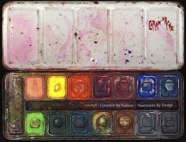Water Colors Tray Wallpaper by ruv