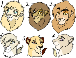 Lion bust adopts -closed by oCrystal