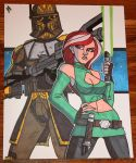 Commish - Alpha-23 and Aria by JoeHoganArt