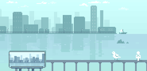 That smell of water (lazy pixel animation) by vannbun