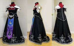 Dark Zelda Dress by WanderingWindward