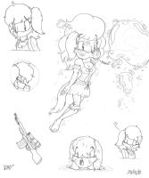 Hannah Riley doodles :3 by victor639514