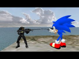 Halo vs Sonic by King-of-Darkness50