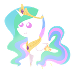 Princess Celestia chibi by Diigii-Doll