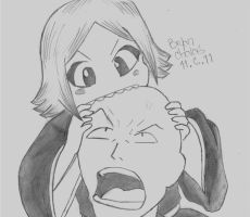 Bleach: Cue Ball Ikkaku and Yachiru by BryanChalas