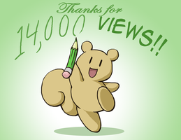Thanks for 14,000 Views by kolidescope