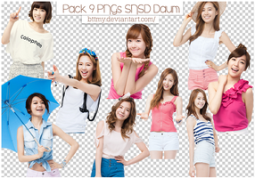 Pack 9 PNGs SNSD Daum By Mynie by bttmy