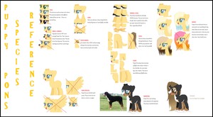Puppy Pons Visual Species Reference / Semi-Open! by Toxijen