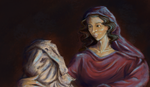 The Saviour and His Mother by Khrestos