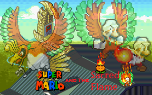 Super Mario and The Sacred Flame Poster by EnteiTheHedgehog