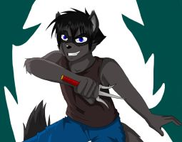 Coon Warrior (Commission) by Stripes-the-Raccoon