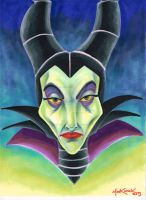 Maleficent marker by NickMockoviak
