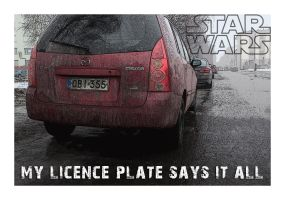 Licence Plate Series: STAR WARS by wchild