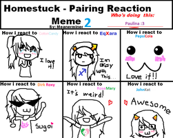 Homestuck Pairing Reaction 2 by deaththegirl99