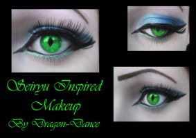 Seiryu Inspired Eye Makeup by DansuDragon