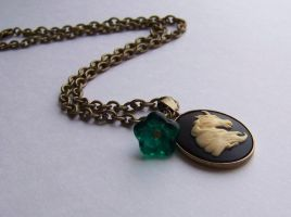 Unicorn Cameo Necklace by ms-pen