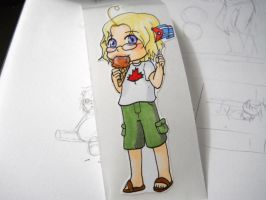 Chibi Canada sticker for Sarah by NevynS