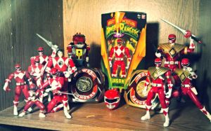 ULTIMATEfigures - My Red Ranger Collection Pic 1 by ULTIMATEbudokai3