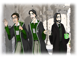 Slytherin Salute by ameraucanablues