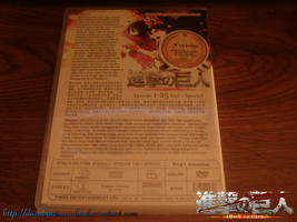 Attack on Titan Official DVD: Back by Levi-Ackerman-Heicho