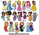 Adventure Time Disney Females! MORE ADDED by KleeKay423