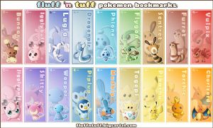 Pokemon Bookmarks by Fluffntuff
