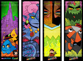MONSTER BENTO BOOKMARKS by vincentbatignole