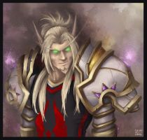 Blood elf paladin by Lihony