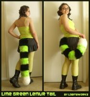 Lime Lemur Tail by LobitaWorks