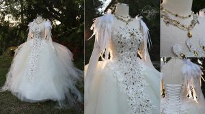 Swan Lake Ball Gown by Lillyxandra